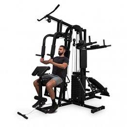 Klarfit Ultimate Gym Kraftstation - multifunktionale Fitnessstation, Trainingsstation, Ganzkörpertraining, inkl. Gewichten, 100 unterschiedliche Übungen, schwarz - 1