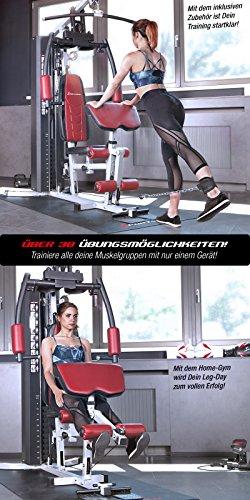 Sportstech Einzigartig Premium Kraftstation HGX100/HGX200 für unzählige Trainingsvarianten Multifunktions-Homegym mit Stepper, Fitnessstation aus Eva Material für Zuhause- Robuste Konstruktion - 7