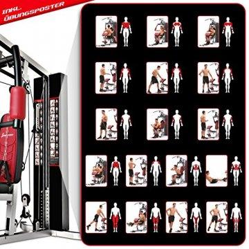 Sportstech Einzigartig Premium Kraftstation HGX100/HGX200 für unzählige Trainingsvarianten Multifunktions-Homegym mit Stepper, Fitnessstation aus Eva Material für Zuhause- Robuste Konstruktion - 9