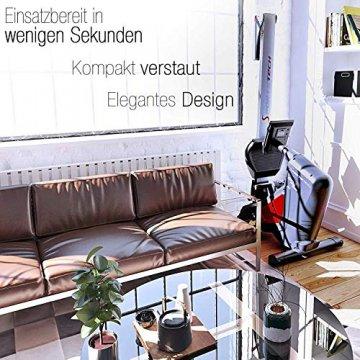 Sportstech RSX500 Rudergerät | Deutsches Qualitätsunternehmen | Wettkampfmodus inkl. Pulsgurt (im Wert von: 39,90) & Tablethalterung | 16 Programme mit Magnetwiderstand | Home Trainer klappbar - 2