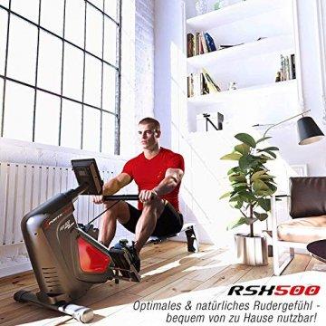 Sportstech RSX500 Rudergerät | Deutsches Qualitätsunternehmen | Wettkampfmodus inkl. Pulsgurt (im Wert von: 39,90) & Tablethalterung | 16 Programme mit Magnetwiderstand | Home Trainer klappbar - 4