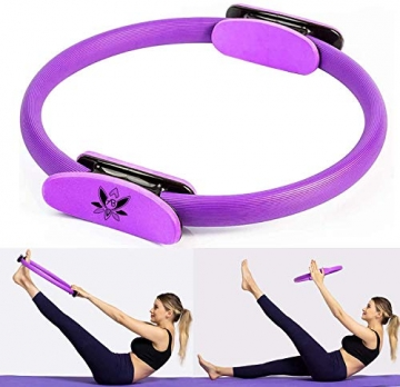 AB Pilates Magic Ring mit 2 rutschfesten Griffen Pilates Circle Gewichtsverlust Körperstraffung - 2