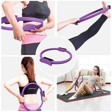 AB Pilates Magic Ring mit 2 rutschfesten Griffen Pilates Circle Gewichtsverlust Körperstraffung - 4