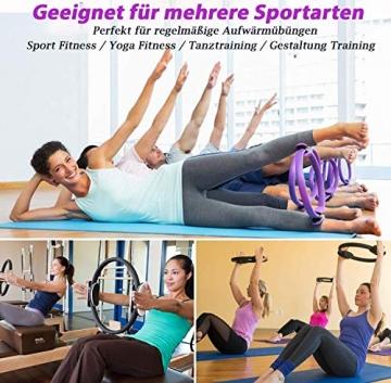 AB Pilates Magic Ring mit 2 rutschfesten Griffen Pilates Circle Gewichtsverlust Körperstraffung - 7