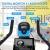 ANCHEER Heimtrainer, 49LBS Indoor Cycling Bike Fitnessbike Mit Herzfrequenzmonitor & LCD Monitor, Bequeme Sitzkissen, Schwere Schwungrad Upgrade Version, Multi-Grips - 3