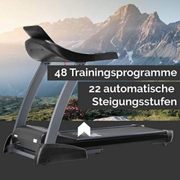 ArtSport Laufband Speedrunner 7000 klappbar mit Kinomap-Funktion, 3 PS Motor, 22 km/h, 48 Programme – Heimtrainer elektrisch LCD Display & Steigung - 4