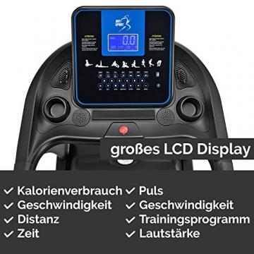 ArtSport Laufband Speedrunner 7000 klappbar mit Kinomap-Funktion, 3 PS Motor, 22 km/h, 48 Programme – Heimtrainer elektrisch LCD Display & Steigung - 5