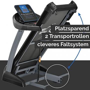 ArtSport Laufband Speedrunner 7000 klappbar mit Kinomap-Funktion, 3 PS Motor, 22 km/h, 48 Programme – Heimtrainer elektrisch LCD Display & Steigung - 7