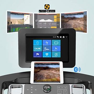 "AsVIVA Laufband T18 Pro, WiFi kompatibel, Heimtrainer mit 15,6"" Touchscreen, Android-Computer, 15% Steigung elektronisch, 7PS Motor bis 20km/h, Pulsempfänger inkl. Brustgurt, klappbar - 3"