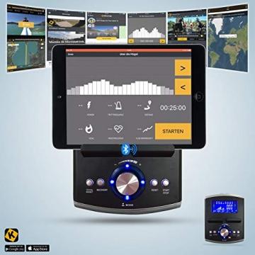 AsVIVA RA6 2in1 Rudergerät, Liegeergometer Cardio, leises Magnetbremssystem, 13KG Schwungmasse, Fitnesscomputer mit 16 Stufen, integrierter Pulsempfänger, klappbar - 3