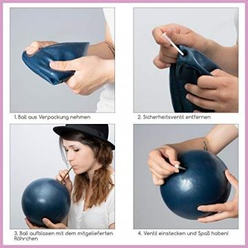 beneyu ® Rutschfester & Superleichter Soft Pilates Ball - Gymnastikball Klein - 23cm +Übungen - 4