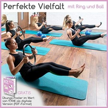 beneyu ® Rutschfester & Superleichter Soft Pilates Ball - Gymnastikball Klein - 23cm +Übungen - 6
