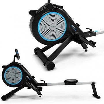Bluefin Fitness Blade Air Rudergerät für Zuhause, klappbar | Dual-Magnet + Luft Widerstand Rudermaschine | Kinomap App | Live Video Streaming | Video Coaching & Training | Digitale LCD-Fitnesskonsole - 6
