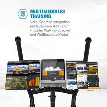 Capital Sports Helix Pro Cross-Trainer mit Trainingscomputer Heimtrainer (Bluetooth, Kinomap-Applikation, MagResist-Magnet-Widerstand, 20 kg Schwungmasse, 12 Trainingsprogramme, Bodenrolle) schwarz - 4