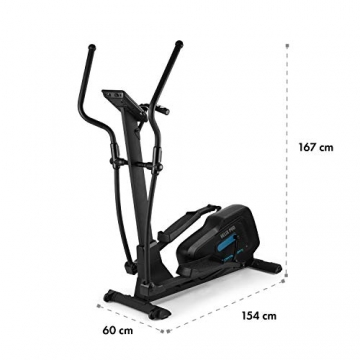 Capital Sports Helix Pro Cross-Trainer mit Trainingscomputer Heimtrainer (Bluetooth, Kinomap-Applikation, MagResist-Magnet-Widerstand, 20 kg Schwungmasse, 12 Trainingsprogramme, Bodenrolle) schwarz - 7