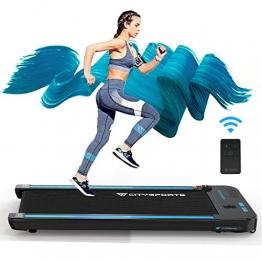 elektrische Laufmaschine,440W Motor,eingebaute Bluetooth-Lautsprecher für Laufbänder, einstellbare Geschwindigkeit, LCD-Bildschirm und Kalorienzähler, ultradünn und geräuschlos, für Heim / Büro (rot) - 1