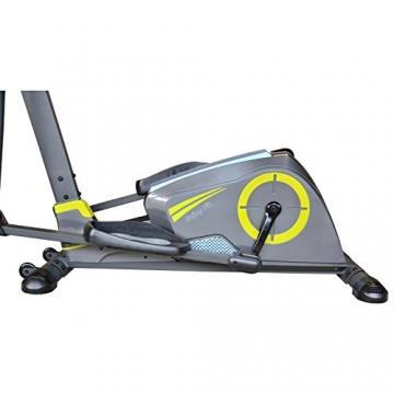 EnjoyFit® Crosstrainer Heimtrainer Ergometer Stepper Ellipsentrainer. Große Programmvielfalt inkl. 4 Herzfrequenz basiertes Training, Smartphone-Tablet-Halterung, elektr. gesteuerte Magnetbremse - 3