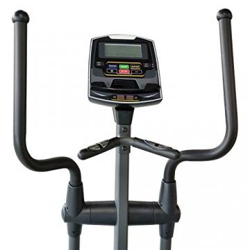 EnjoyFit® Crosstrainer Heimtrainer Ergometer Stepper Ellipsentrainer. Große Programmvielfalt inkl. 4 Herzfrequenz basiertes Training, Smartphone-Tablet-Halterung, elektr. gesteuerte Magnetbremse - 4