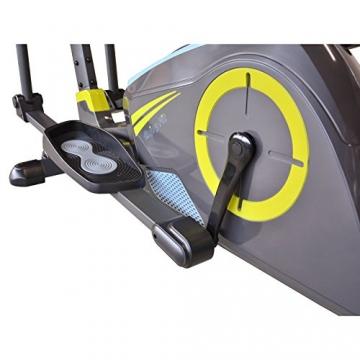 EnjoyFit® Crosstrainer Heimtrainer Ergometer Stepper Ellipsentrainer. Große Programmvielfalt inkl. 4 Herzfrequenz basiertes Training, Smartphone-Tablet-Halterung, elektr. gesteuerte Magnetbremse - 6