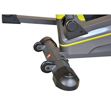 EnjoyFit® Crosstrainer Heimtrainer Ergometer Stepper Ellipsentrainer. Große Programmvielfalt inkl. 4 Herzfrequenz basiertes Training, Smartphone-Tablet-Halterung, elektr. gesteuerte Magnetbremse - 7