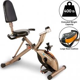Exerpeutic GOLD 525XLR Klappbarer Liege-Heimtrainer/ Recumbent Bike mit 181kg maximalem Benutzergewicht - 1