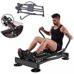 FFitness FLMD412N Rudergerät für das professionelle Training zu Hause und Fitness, hydraulisch, Cardio Total Body Trainer Crunch, Schwarz, Einheitsgröße - 1