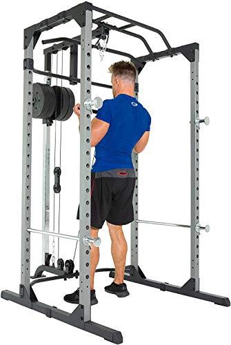 Fitness Reality 810XLT Super Max Power Rack mit Latzug, Kraftstation mit 363 kg maximaler Belastung, Power Cage mit Kabelzugturm und Klimmzugstange - 5
