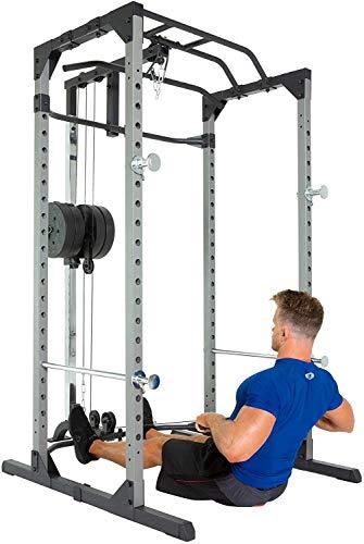 Fitness Reality 810XLT Super Max Power Rack mit Latzug, Kraftstation mit 363 kg maximaler Belastung, Power Cage mit Kabelzugturm und Klimmzugstange - 6