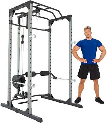 Fitness Reality 810XLT Super Max Power Rack mit Latzug, Kraftstation mit 363 kg maximaler Belastung, Power Cage mit Kabelzugturm und Klimmzugstange - 7