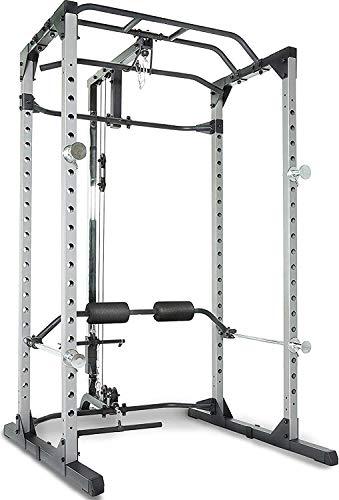 Fitness Reality 810XLT Super Max Power Rack mit Latzug, Kraftstation mit 363 kg maximaler Belastung, Power Cage mit Kabelzugturm und Klimmzugstange - 1