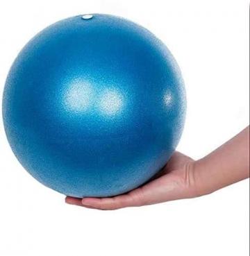 Fresion Gymnastikball Yoga Pilates Ball Kleine Übung Ball, 25cm Dicker Anti-Burst Gymnastikball inkl Ballpumpe, Weich Pilates Ball, Fitness Ball für Yoga,Heim, Büro,Sitzball, Blau - 1