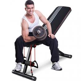 GOXIFAC verstellbare Hantelbank, faltbare Hantelbank für Ganzkörper-Workout, Mehrzweck-Neigung, zusammenklappbar, Gewichtheben, Bankdrücken, für Zuhause und Fitnessstudio - 1