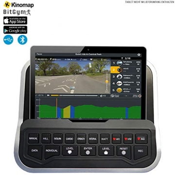 HAMMER Finnlo Ergometer Varon XTR BT mit APP Steuerung für Smartphone, Bluetooth Anbindung, Kompatibel mit: Kinomap und BitGym, tiefer Einstieg, 15 Trainingsprogramme - 2