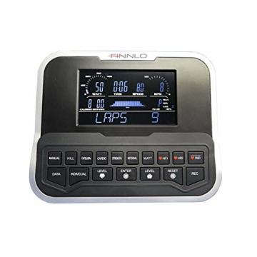 HAMMER Finnlo Ergometer Varon XTR BT mit APP Steuerung für Smartphone, Bluetooth Anbindung, Kompatibel mit: Kinomap und BitGym, tiefer Einstieg, 15 Trainingsprogramme - 3
