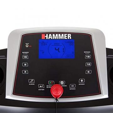 HAMMER Laufband Race Runner 2000M, Schwarz/Rot/Silber, 172 x 69 x 133 cm - 6