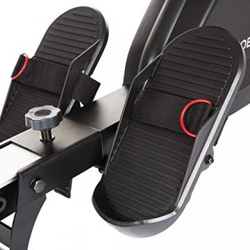 HAMMER Rudergerät Cobra XTR Plus II für zu Hause – Rudermaschine mit innovativem Trainingscomputer, Smartphone-/Tablethalterung, bis 130 kg Nutzergewicht, 232 x 55 x 75 cm, Schwarz, 4532 - 7
