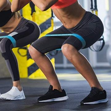 High Pulse® Pilates Rolle inkl. Fitnessband + Gratis Übungsposter – Die multifunktionale Schaumstoffrolle eignet Sich ideal für Muskelkräftigung, Fitness und Massage der Faszien (Blau | 90 x 14 cm) - 6