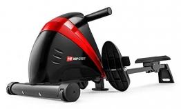 Hop-Sport Rudergerät Boost Ruderzugmaschine mit Computer & Magnetbremssystem rot - 1
