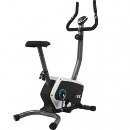 ISE Fahrrad Ergometer Fitness Heimtrainer mit Pulssensoren & Computer 8 Widerstandsstufen Sattel verstellbar Schwungrad,Nutzergewicht bis 120 kg Sicherheit geprüft SY-8801 - 1
