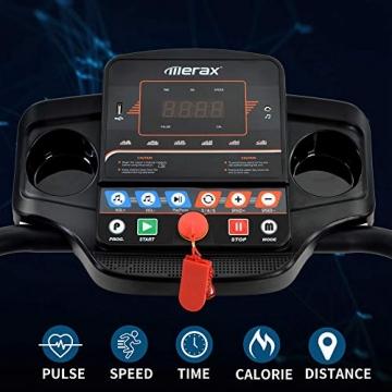 Laufband Speedrunner elektrisch klappbar 12 km/h, 12 automatische Programme sowie 3 Steigungsstufen, LCD Display - 2