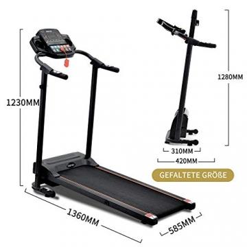 Laufband Speedrunner elektrisch klappbar 12 km/h, 12 automatische Programme sowie 3 Steigungsstufen, LCD Display - 3