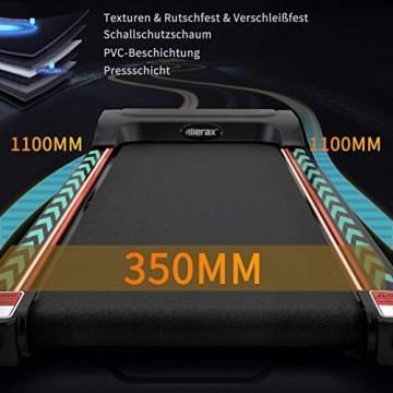 Laufband Speedrunner elektrisch klappbar 12 km/h, 12 automatische Programme sowie 3 Steigungsstufen, LCD Display - 4