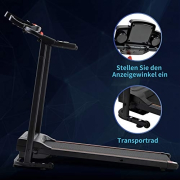 Laufband Speedrunner elektrisch klappbar 12 km/h, 12 automatische Programme sowie 3 Steigungsstufen, LCD Display - 6