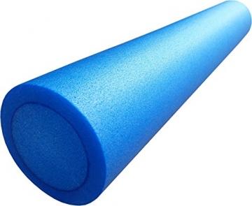 mediparts GmbH MEDDAX Pilates Rolle, Pilatesrolle Faszienrolle 15 x 90 cm Flexibler Hartschaum blau inkl. Profi Übungsposter - 1