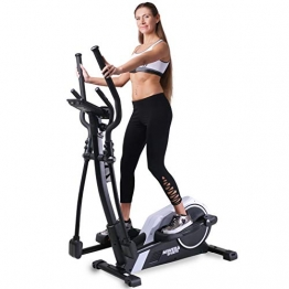 Miweba Sports Crosstrainer MC300 Stepper Ellipsentrainer Heimtrainer - App Steuerung - 21 Kg Schwungmasse - Pulsgurt - Magnetbremse (Weiß Schwarz) - 1