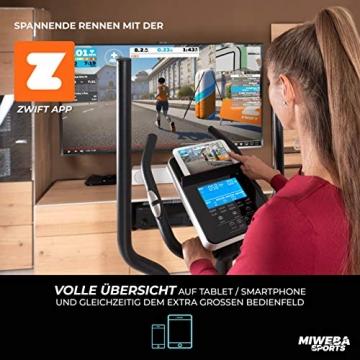 Miweba Sports Crosstrainer MC400 Stepper Ellipsentrainer Heimtrainer - Streaming App - 27 Kg Schwungmasse - Magnetbremse - Pulsmessung (Schwarz) - 3
