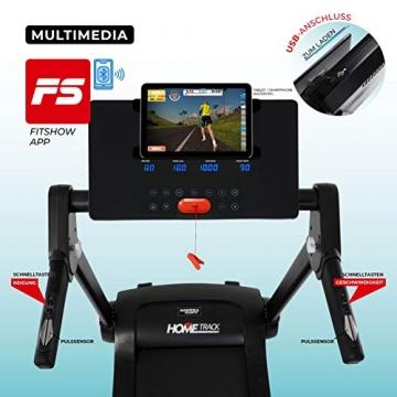 Miweba Sports elektrisches Laufband HT3000 - Incline bis 15% - Große Lauffläche - 3,5 PS - 16 km/h - 12 Laufprogramme - Tablet Halterung - Klappbar (Schwarz/Weiß) - 4