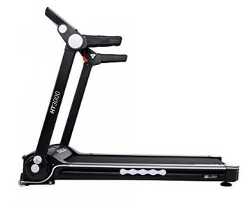 Miweba Sports elektrisches Laufband HT3000 - Incline bis 15% - Große Lauffläche - 3,5 PS - 16 km/h - 12 Laufprogramme - Tablet Halterung - Klappbar (Schwarz/Weiß) - 9
