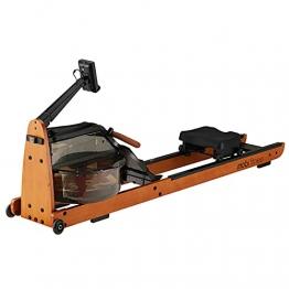 MOBI FITNESS Rudergerät Hölzerne Rudermaschine mit LCD-Display Benutzer bis 198 cm/120 kg Rower Fitnessgeräte für zu Hause - 1