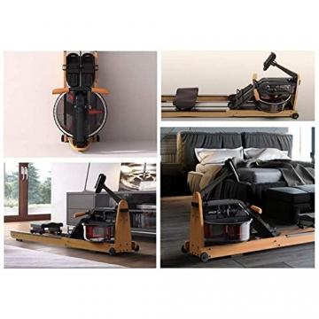 MOBI FITNESS Rudergerät Hölzerne Rudermaschine mit LCD-Display Benutzer bis 198 cm/120 kg Rower Fitnessgeräte für zu Hause - 8